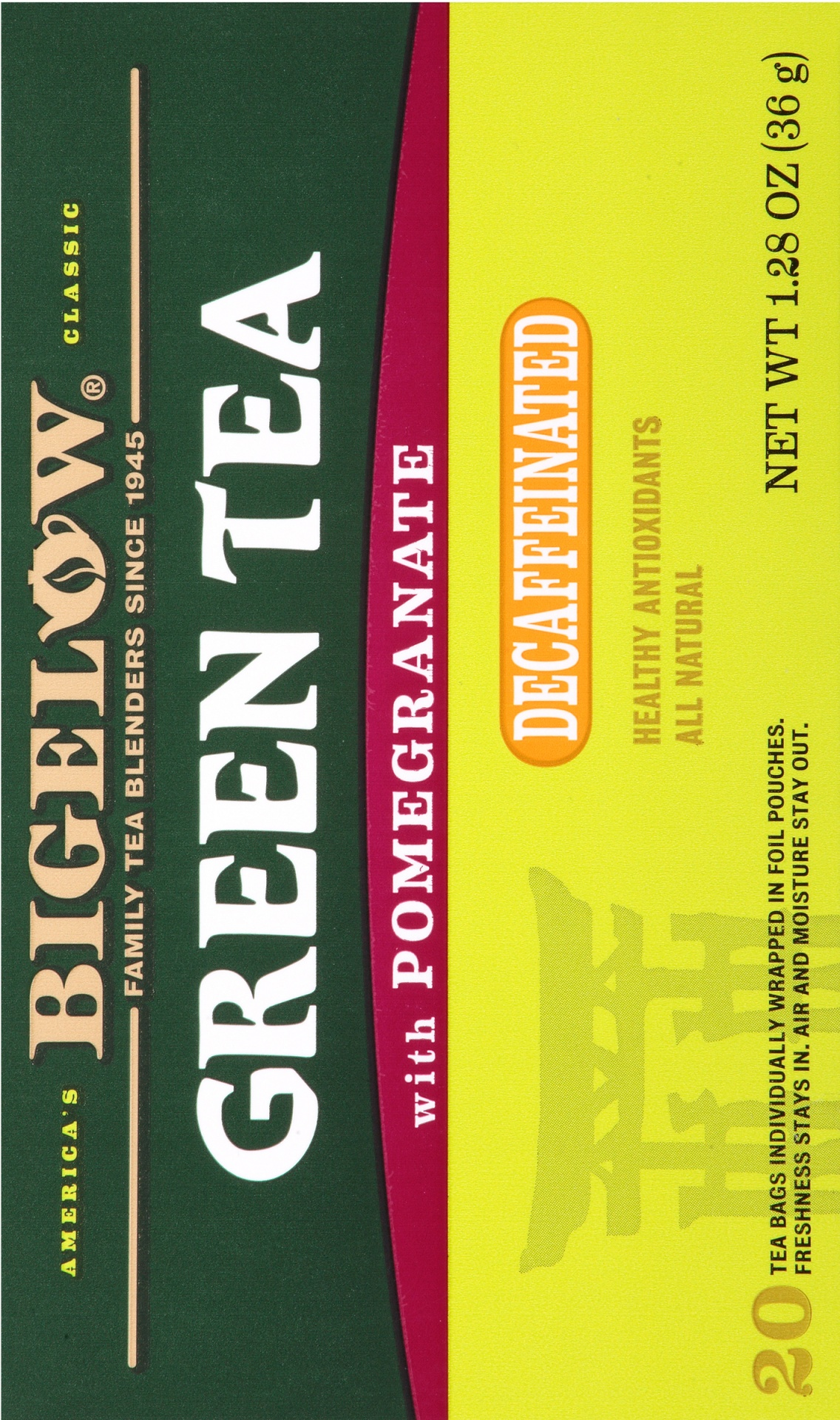 slide 4 of 7, Bigelow Tea Decaf Green W Pomegranate,