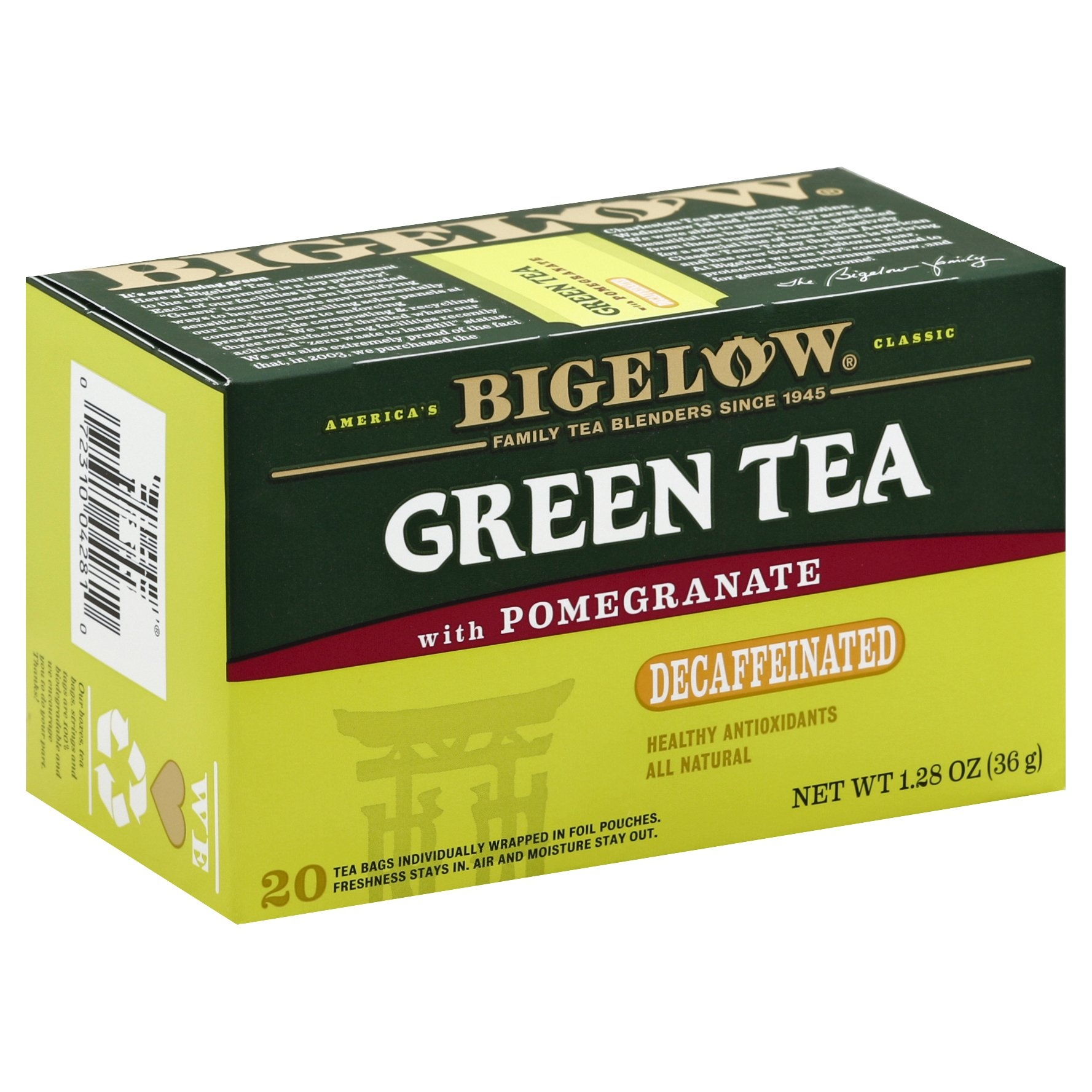 slide 1 of 7, Bigelow Tea Decaf Green W Pomegranate,