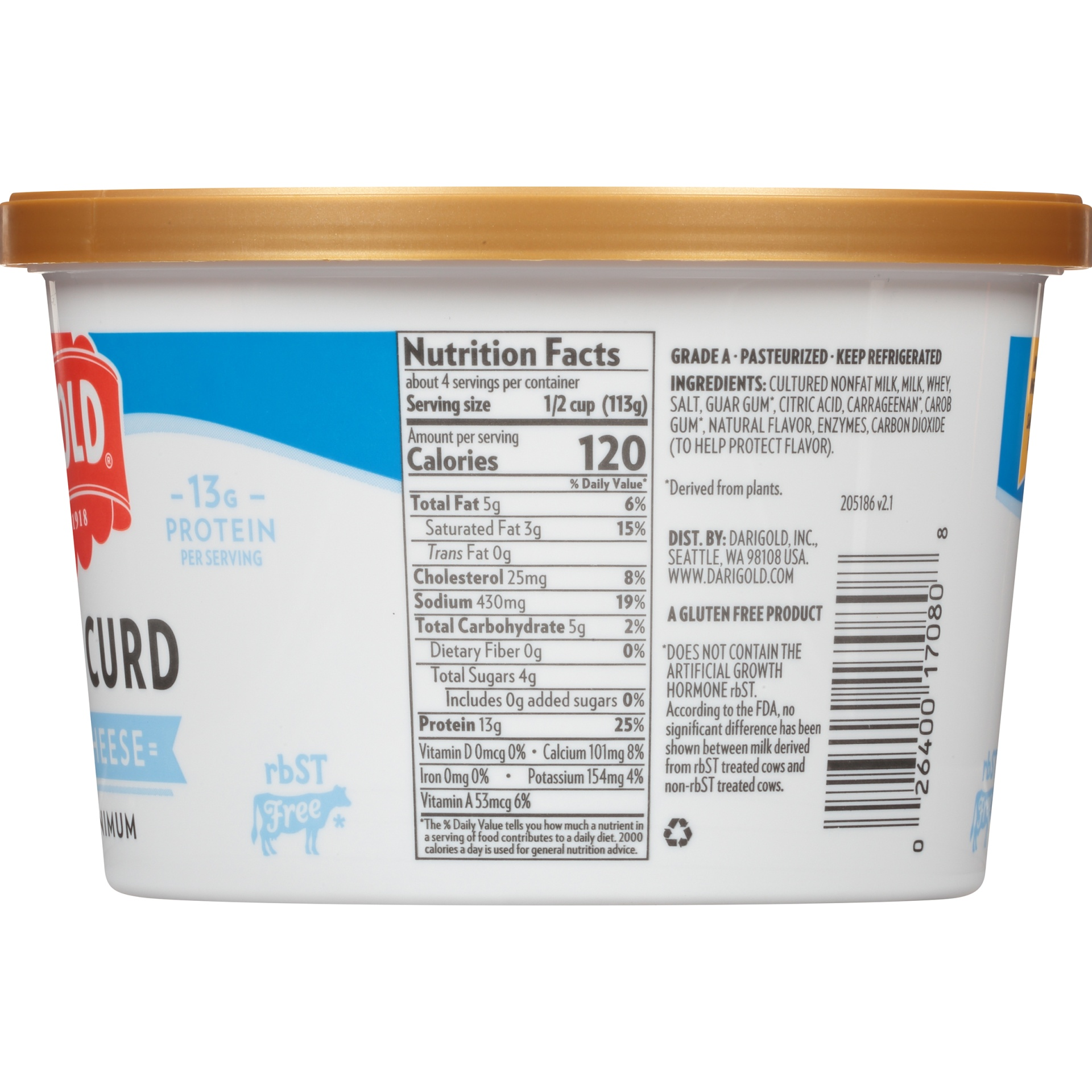 slide 3 of 6, Darigold 4% Large Curd Cottage Cheese,