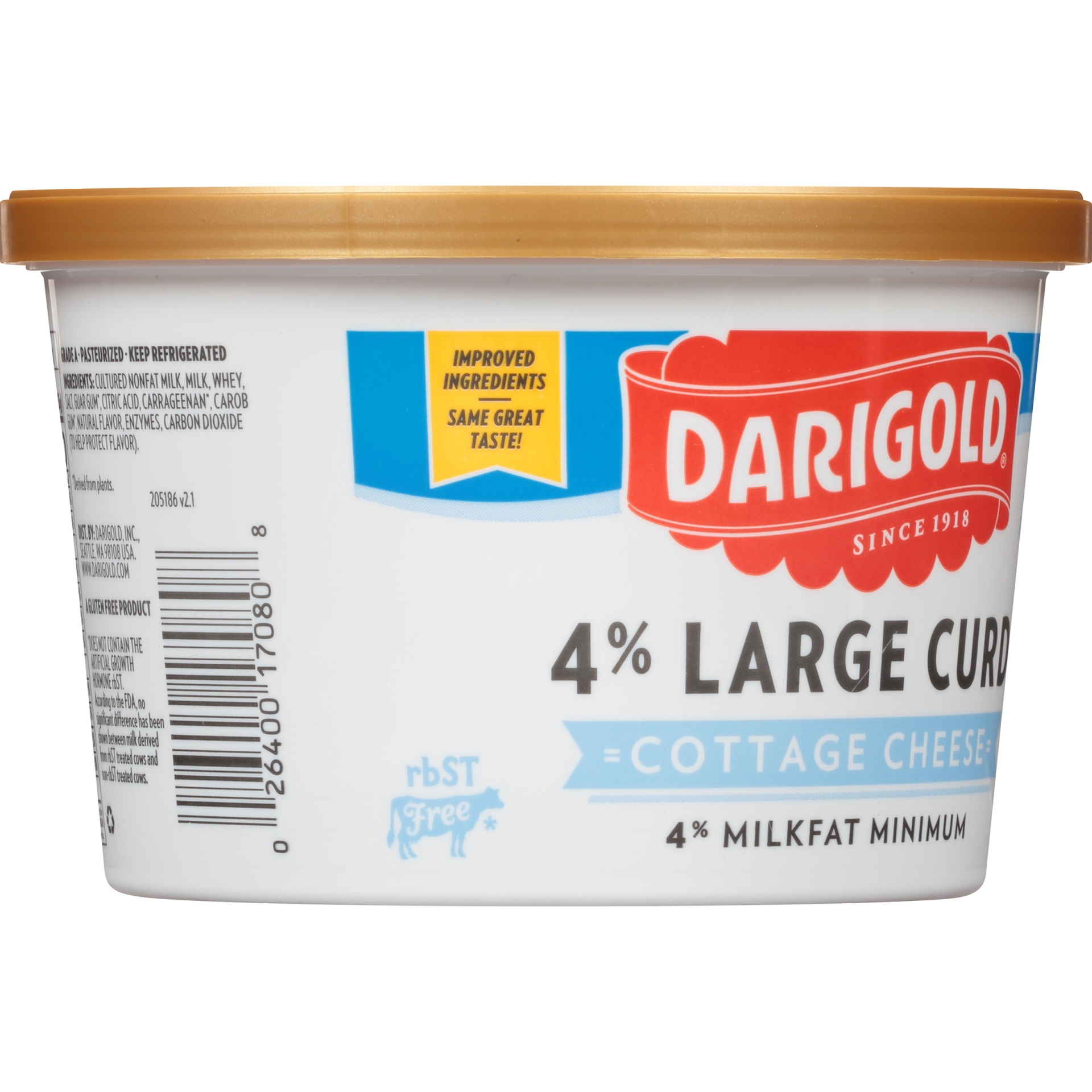 slide 4 of 6, Darigold 4% Large Curd Cottage Cheese,