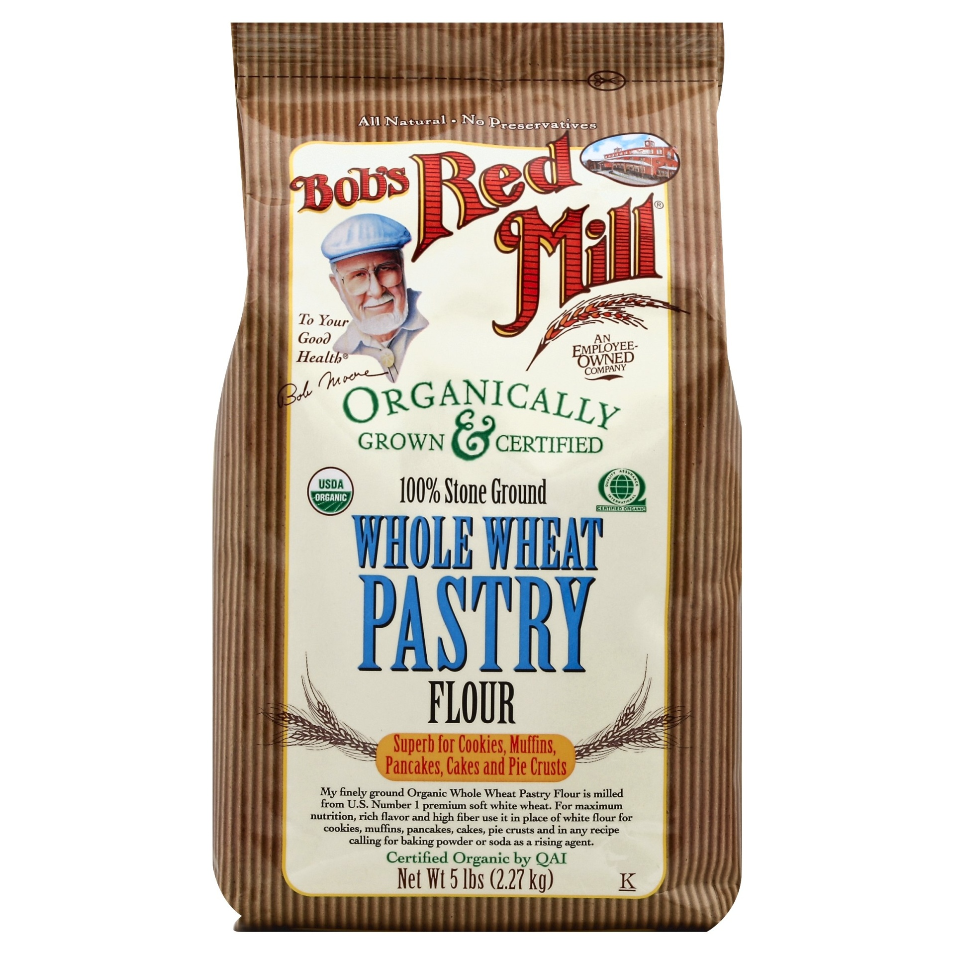 slide 1 of 1, Bob's Red Mill Organic Whole Wheat Pastry Flour,