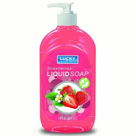 slide 1 of 1, Lucky Super Soft Strawberry Hand Soap,