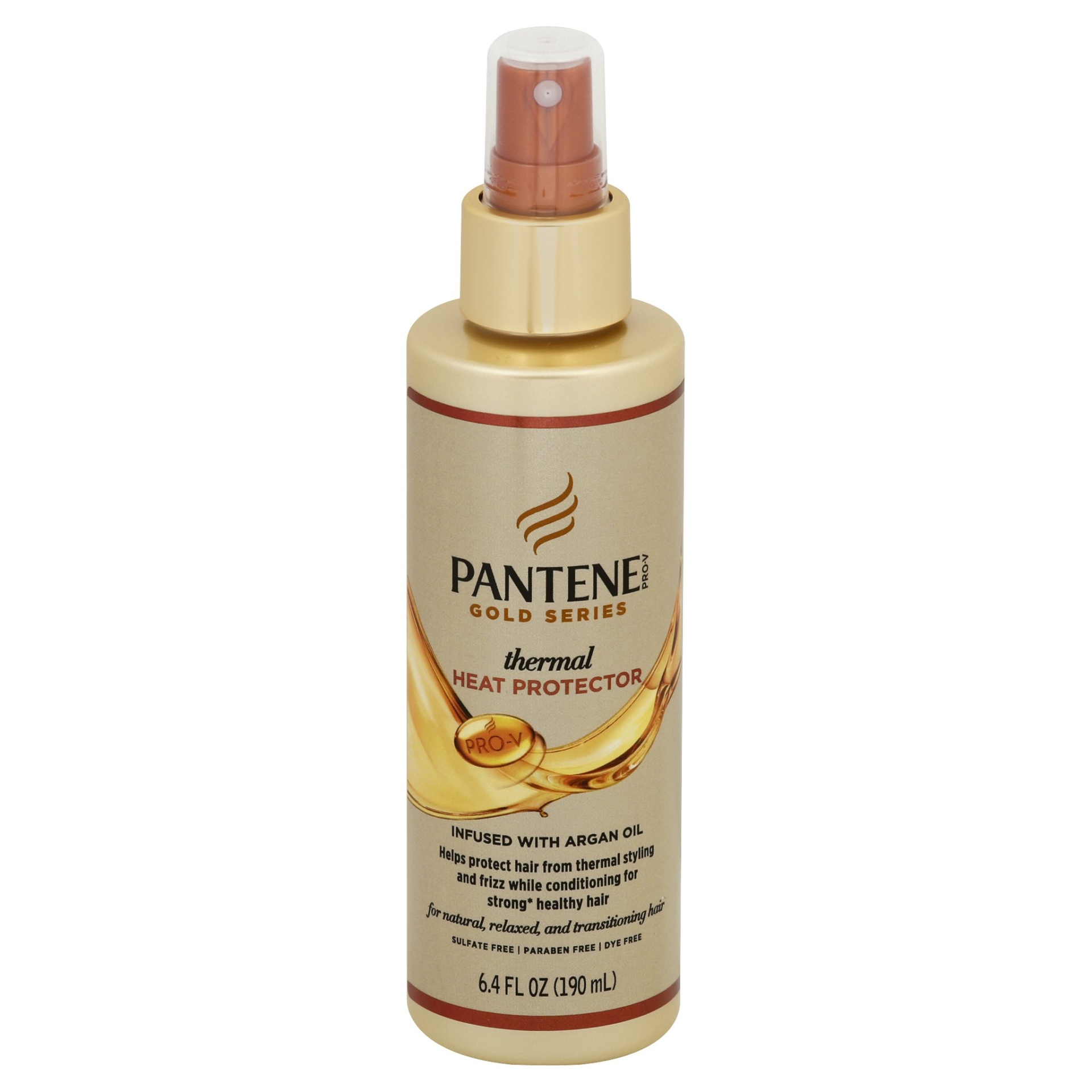 slide 1 of 1, Pantene Pro-V Gold Series Thermal Heat Protector Infused with Argan Oil,