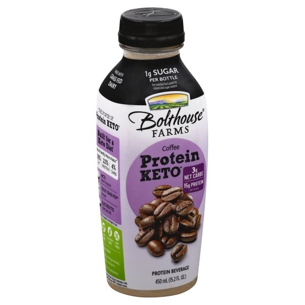 slide 1 of 4, Bolthouse Farms Keto Coffee Protein,