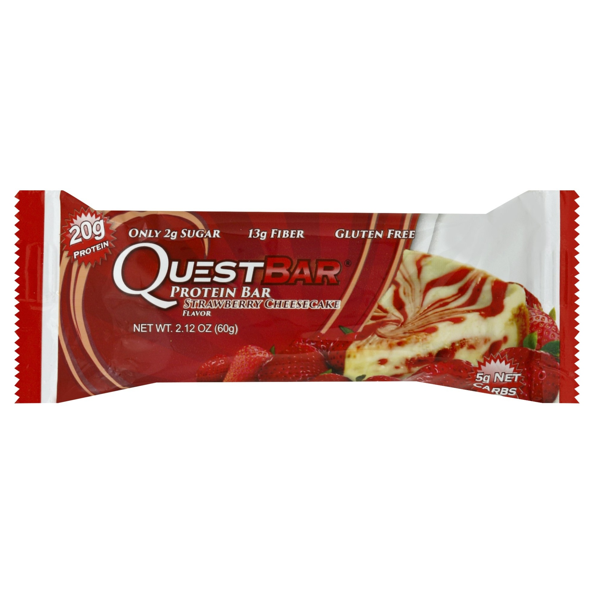 slide 1 of 5, Quest Strawberry Cheesecake Protein Bar,