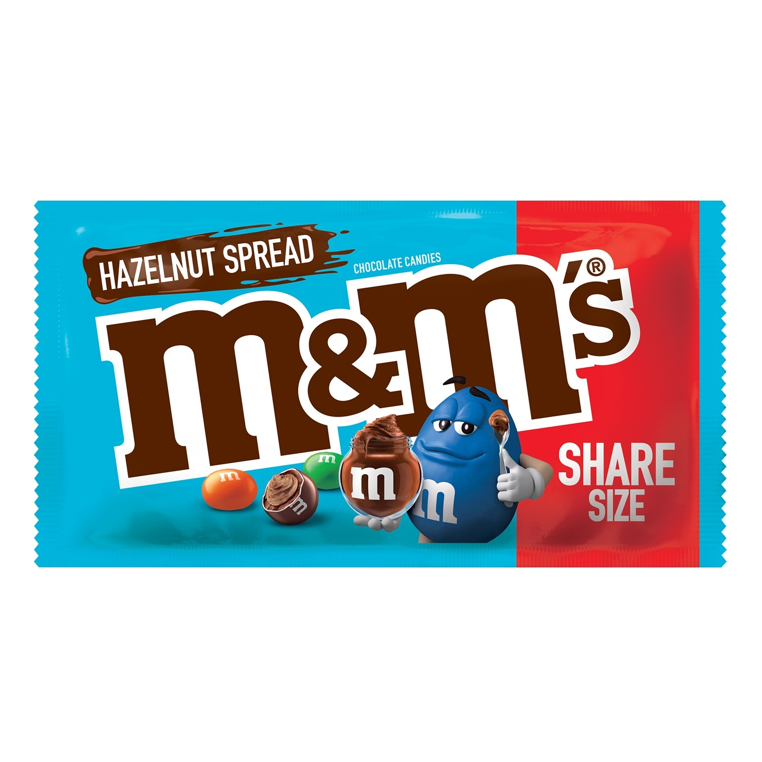 slide 1 of 1, M&M's Hazelnut Spread Sharing Size Chocolate Candy,