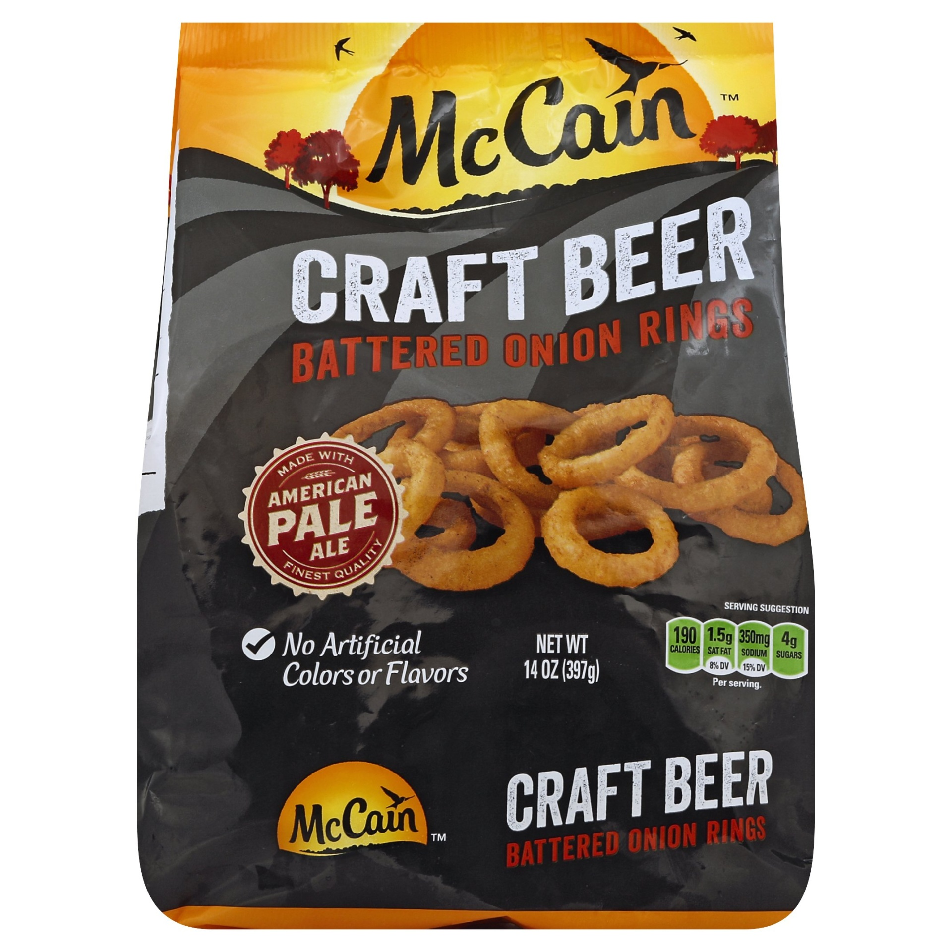 slide 1 of 1, McCain Craft Beer Battered Onion Rings,
