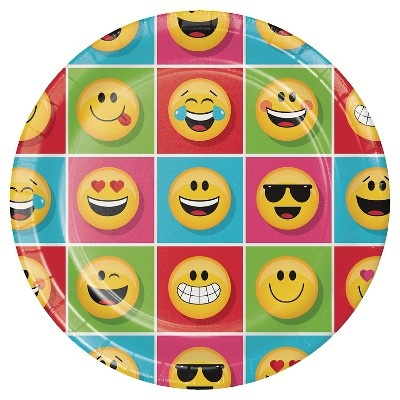 slide 1 of 1, Party Creations Show Your Emojions Plates,