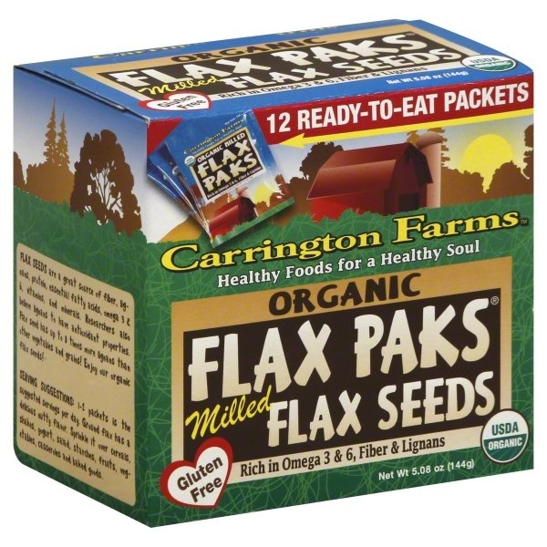 slide 1 of 1, Carrington Farms Organic Milled Brown Flax Seed Paks,