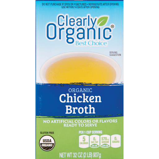 slide 1 of 1, Clearly Organic Organic Chicken Broth,